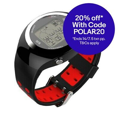 POSMA GT2 Golf Trainer + Activity Tracking GPS Golf Watch Range Finder - Red