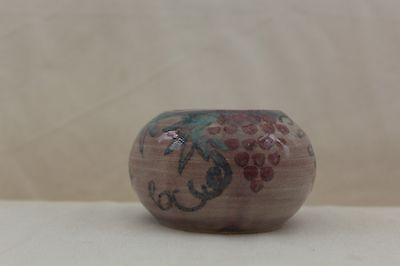 Vintage Conwy Pottery Bowl with Floral and Grape Design