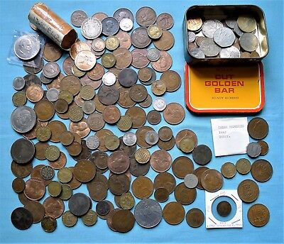 British Coin Collection, Incl Silver, Old Coppers, Tin Of Decimal, Part Roll++