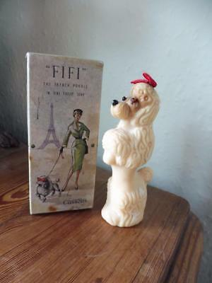 "Cussons  ""FIFI "" The French Poodle Fine Toilet Soap Vintage Dog Novelty Soap 50s"