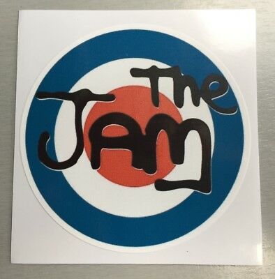 New circular 90mm Vinyl Window Sticker the jam Weller mod scooters punk car