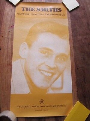 """The Smiths original Poster Last Night I Dreamt That Somebody Loved Me 12"""" x 24"""""""