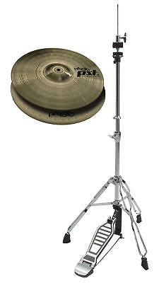 "Pasite 14"" Pst 5 Medium Hi Hat Set Mit Xdrum Hihat Maschine Ständer Top Bottom"