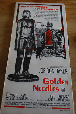 GOLDEN NEEDLES -  original Australian movie poster daybill-