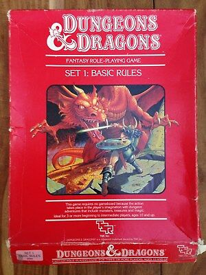 Dungeons and Dragons Basic Rulebooks - boxed set - Frank Mentzer 1983