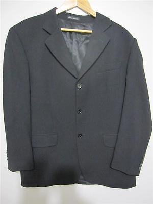 NINO CERRUTI Mens BLACK Suit JACKET 116 BLAZER WOOL Business Corporate Sports