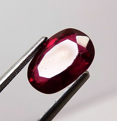 3.46 Ct Awesome Aaa Blood Red Ruby Oval Loose Gemstone