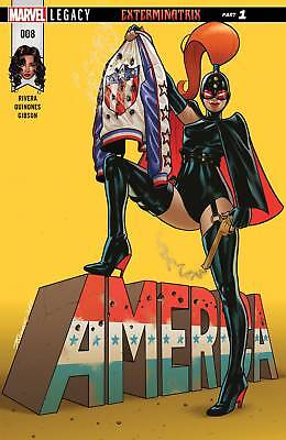 America #8(2017) 1St Printing Bagged & Boarded Marvel Legacy Tie-In