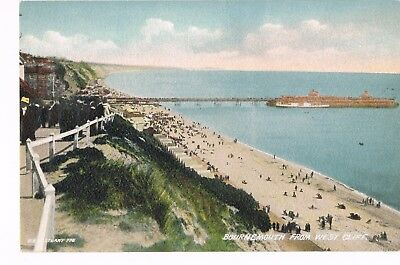Bournemouth Hants West Cliff colour postcard posted 1920