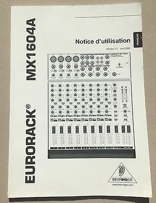 Behringer eurodesk mx8000 manual