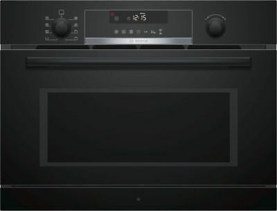 Bosch Built-In Microwave Oven with dampfgarfunktion - coa565gb0 Volcano Black