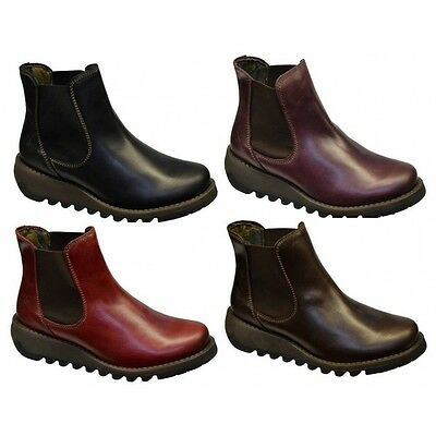 Fly London Salv Womens Wedge Boots All Sizes in Various Colours