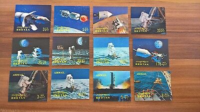 Bhutan, 1969 MiNr. 313-324 Set MNH, First manned moon landing by Apollo 11