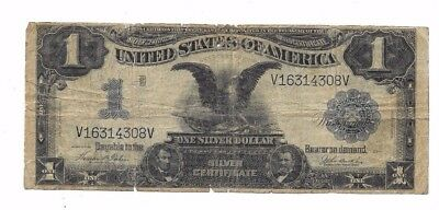 1899 $1 Large Black Eagle Silver Certificate Date Right