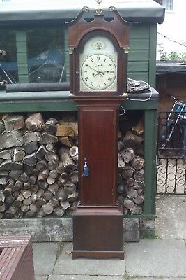 LONGCASE /GRANDFATHER CLOCK TANNER CIRENCESTER glosCONVEX DIAL