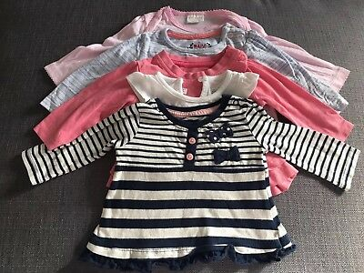 Baby Girl Top Tops t-shirt tshirt Bundle 5 Age 0-3 Months