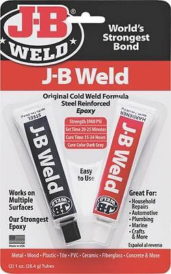 New J-B Weld 8265-S 2 Part Cold Weld Compound Dual Tube Putty Epoxy Bond 1576743