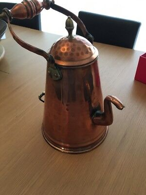38cm TALL COPPER TEA POT
