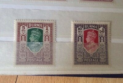 Stamps from Burma - Mint & Used Stamps in an Old Album