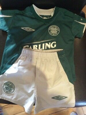 Celtic FC Football Kit 6 - 12 Months Baby 2004/2005 Away Carling Top