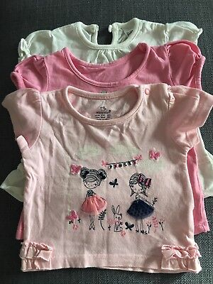 Baby Girl Tops Tshirts T-shirt Top Bundle x 3