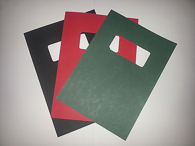 A4 250gsm Binding Covers Leathergrain with window - various pack sizes & colours