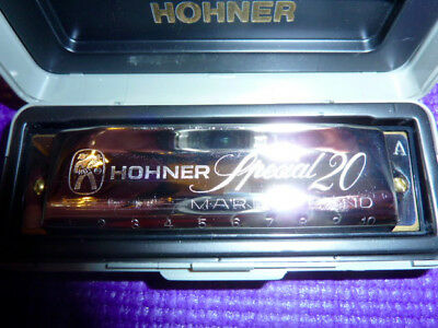 Hohner Marine Band Special 20 Key of A Harmonica  Excellent