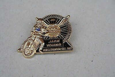 Jack Young World Champion 1951 1952 Gold Speedway Badge