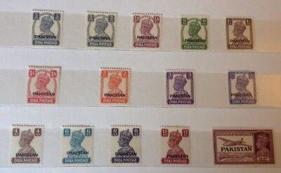 Stamps from Pakistan, Bahawalpur & Bangladesh - Mint & Used Stamps in Old Album