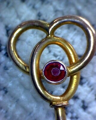 Vintage 9ct Gold and Ruby/Garnet Hatpin