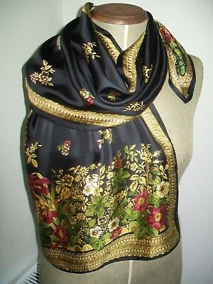 Smithsonian Institution. Very Pretty Botanical Print Design Vintage Silk Scarf