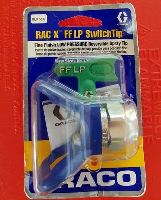 Graco RAC X FF LP SwitchTip Fine Finish LOW PRESSURE Reversible Spray Tip 516