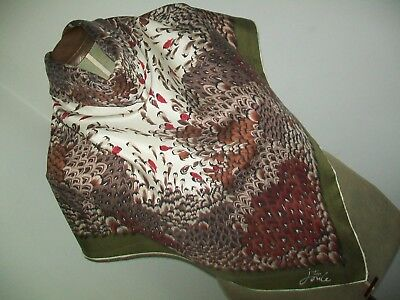 Tom Joule. Pretty Foliage Design Vintage Silk Scarf