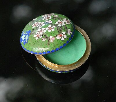 Stunning Vintage Cloisonné  Trinket  Box Stunning Colours and Detail