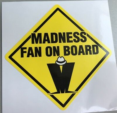 Unused Car Window Sticker 2 Tone madness selecter mods skinhead specials ska