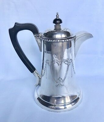 LOVELY SOLID SILVER COFFEE POT, SHEFF 1913, 431g / 15.2oz