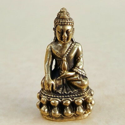 PHRA KRING  Buddha Holy Thai Amulet Brass Magic Luck Rich Wealth Famous GOLD