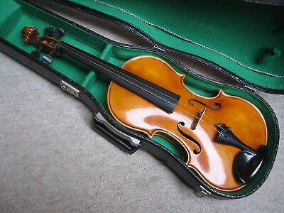 Beautiful old 4/4 Violin  violon, full blocked, nearly ready to play