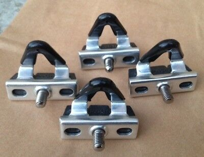 Vintage Campagnolo alloy Super Record Brake Pads and holders x 4! NOS. NEW