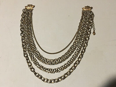 Vintage Old Splendid Signed Costume Coro Jewelry Silver Tone Necklace