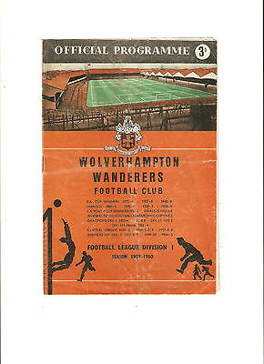 1959 Charity Shield---Wolves v Nottingham Forest