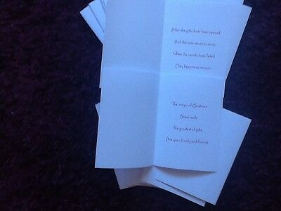 36  A6  Christmas Card Inserts