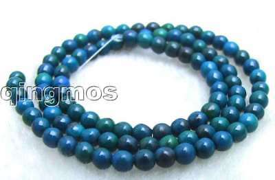 """Tiny 4-4.5mm green High quality Round Chrysocolla beads strands 15"""" -los422"""