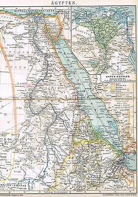 Ägypten Landkarte 1909 -  Egypt ancient map