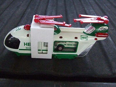 2001 Hess Helicopter with Motorcycle & Cruiser New in Box See Pictures