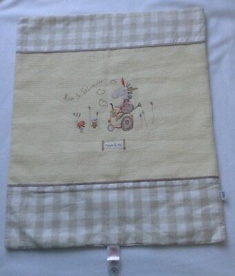 NEW Mamas and Papas Cot Top Quilt. 66 x 56. Neutral Natural. Boy or Girl.