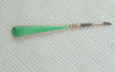 Antique Silver And Guillochie Enamel Nail Tool