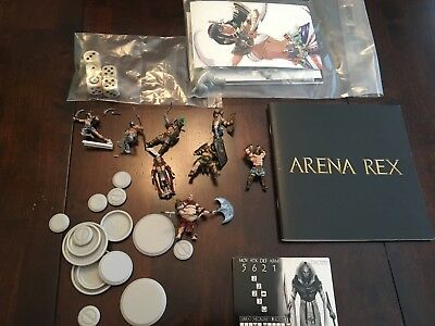 Arena Rex Painted Lot Of Models And Rulebook Dice