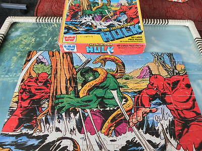Vintage Incredible Hulk Jigsaw puzzle. 1977. Puzzle measures 15 x 11 ¼ inches.