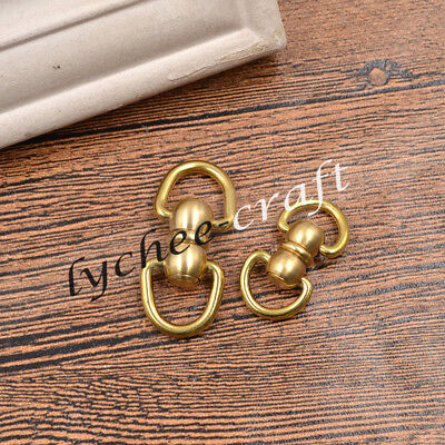 Solid Brass Spring Snap Hook Swivel Clasp D ring Key Chain Hardware Bag Part
